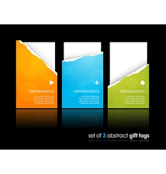Set of teared gift cards vector image vector image