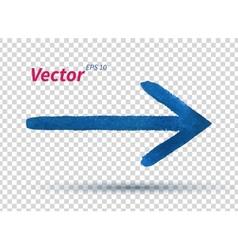 Watercolor arrow vector image vector image