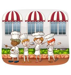 Chefs vector image