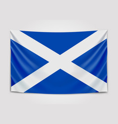 hanging flag of scotland scotland national flag vector image vector image
