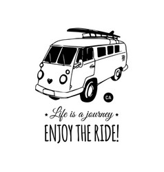 life is a journey enjoy the ride vector image vector image