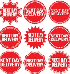 Next day delivery signs set Next day delivery vector image