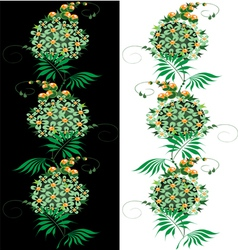 Ornament from green and yellow Flower vector image vector image