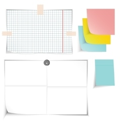 paper banners set vector image vector image