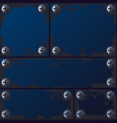 seamless texture made of metal plates vector image vector image