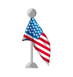 united states flag symbol vector image