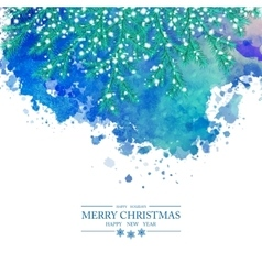 Christmas Watercolor Background vector image vector image