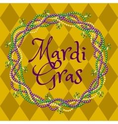 Mardy gras yellow background vector image vector image