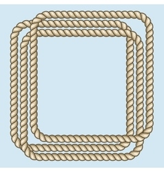 Square nautical brown ropes frame vector image vector image