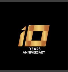 10 year anniversary template design vector