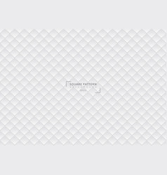 abstract 3d square pattern geometric white vector image