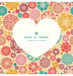 abstract decorative circles heart silhouette vector image
