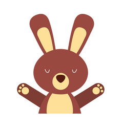 animal rabbit cartoon vector image