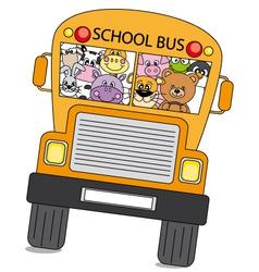 animals bus vector image