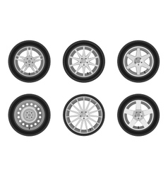 Auto wheels set vector image