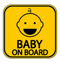 Baby on board sign vector image