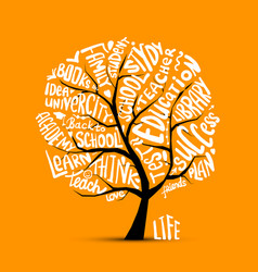 back to school art tree for your design vector image