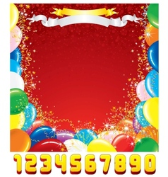 Birthday Greeting Card Template for Design vector image
