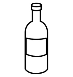 black liquor bottle graphic vector image vector image