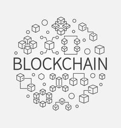 blockchain round concept outline vector image