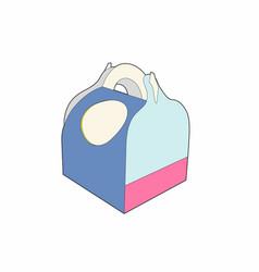 blue box vector image