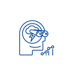 Brainstormforecastvision line icon concept vector