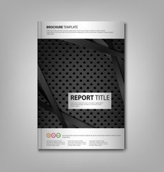 Brochures book or flyer with dark metal dynamic vector image