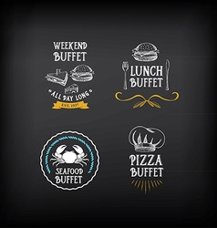Buffet menu restaurant design All you can eat vector image