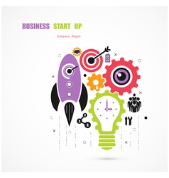 Business Start up icon concept vector image
