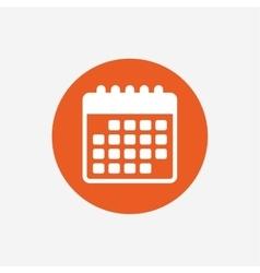 Calendar icon Event reminder symbol vector image