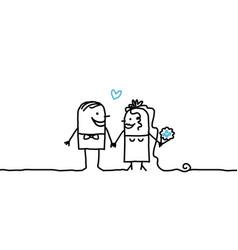 Cartoon couple - wedding vector