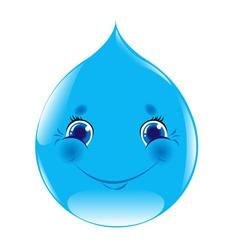 Cartoon water drop vector