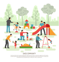 children dad community composition vector image