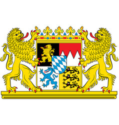 Coat of arms of bavaria in germany vector