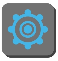 Cog wheel rounded square button vector