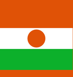Colored flag of niger vector