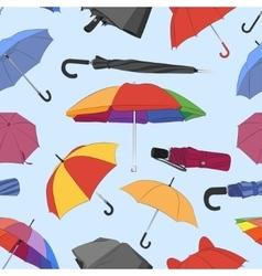 Colorful umbrellas pattern vector