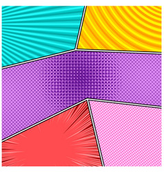 Comic colorful frames composition vector