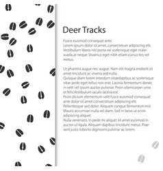 Cover design with traces of forest animal vector
