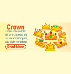 crown concept banner cartoon style vector image
