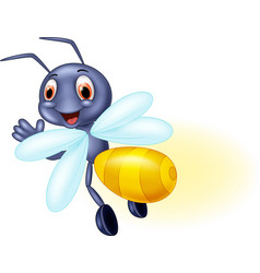 Cute firefly cartoon cartoon waving vector