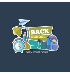 Design template with school emblem vector image vector image