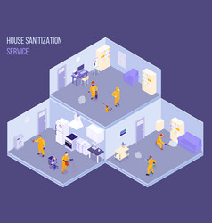 disinfection isometric vector image
