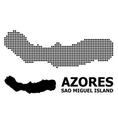 Dotted mosaic map sao miguel island vector