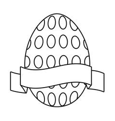 Easter egg cartoon vector