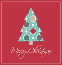 Elegant christmas card trendy vintage vector image