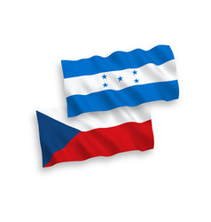 flags czech republic and honduras on a white vector image