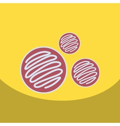 flat icon design collection biscuits with jam vector image