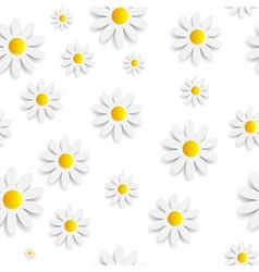 Flora Daisy Seamless Pattern Design vector image