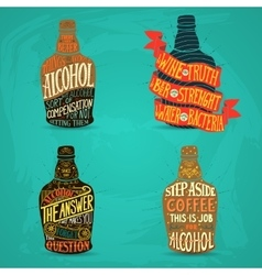 For design of alcohol drink vector